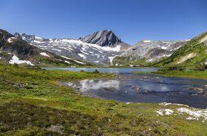 Blue Aster Lake and Warrior Rocky Mountain Peak, Kananaskis Country